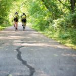 two-men-on-bicycles-riding-in-forest